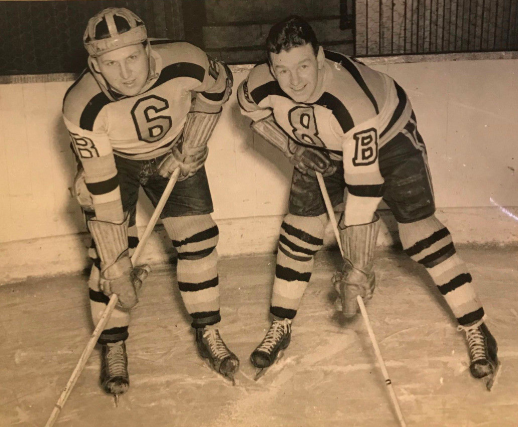 Jack Crawford and John Wilkinson 1943 Boston Bruins