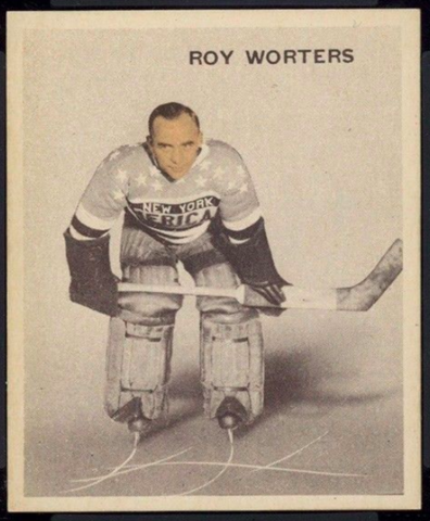 Roy Worters Hockey Card 1933 Ice Kings World Wide Gum No. 11