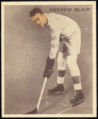 Andrew Blair Hockey Card 1933 Ice Kings World Wide Gum No. 4