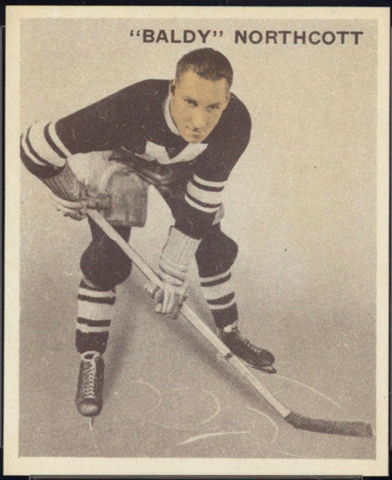 Baldy Northcott Hockey Card 1933 Ice Kings World Wide Gum No. 48