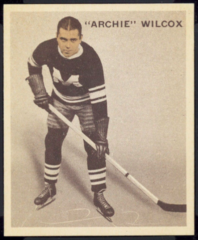 Archie Wilcox Hockey Card 1933 Ice Kings World Wide Gum No. 9