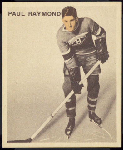 Paul Raymond Hockey Card 1933 Ice Kings World Wide Gum No. 18