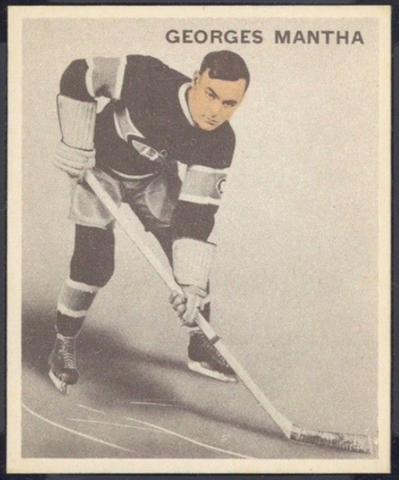 Georges Mantha Hockey Card 1933 Ice Kings World Wide Gum No. 26