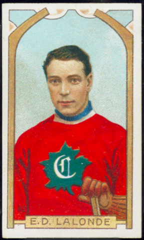 E.D. Lalonde Hockey Card 1911 C55 Imperial Tobacco No. 42 - Newsy Lalonde