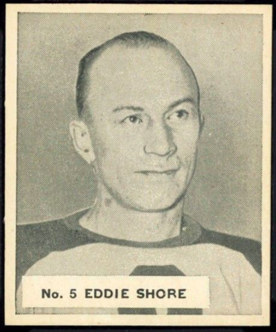 Eddie Shore Hockey Card 1937 V356 World Wide Gum No. 5