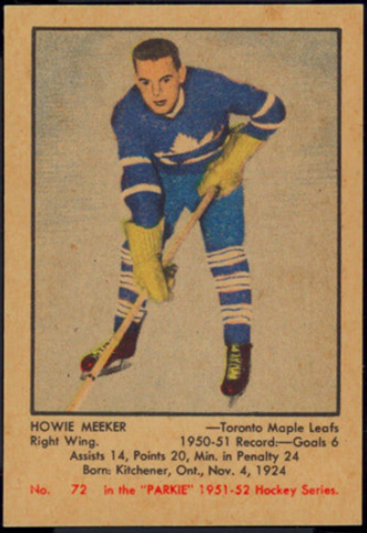 Howie Meeker Hockey Card 1951 Parkie No. 72