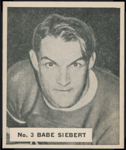 Babe Siebert Hockey Card 1937 World Wide Gum No. 3