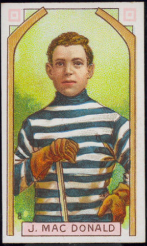 J. MacDonald Hockey Card 1911 C55 Imperial Tobacco No. 8 Jack MacDonald