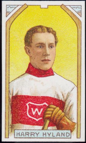 Harry Hyland Hockey Card 1911 C55 Imperial Tobacco No. 30