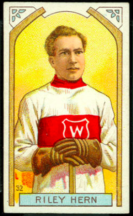 Riley Hern Hockey Card 1911 C55 Imperial Tobacco No. 32