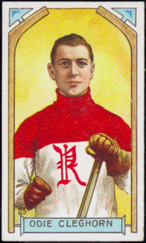 Odie Cleghorn Hockey Card 1911 C55 Imperial Tobacco No. 25