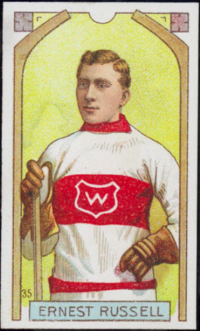 Ernest Russell Hockey Card 1911 C55 Imperial Tobacco No. 35