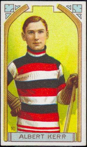 Albert Kerr Hockey Card 1911 C55 Imperial Tobacco No. 10
