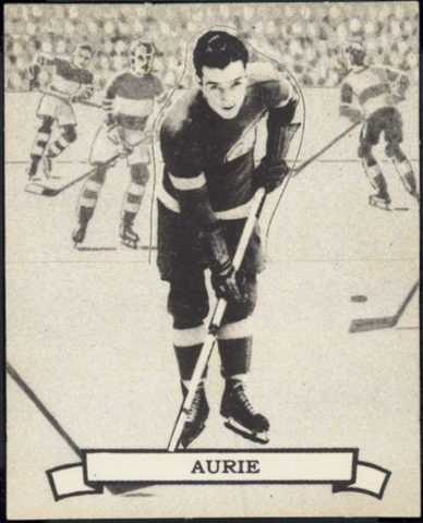 Larry Aurie Hockey Card 1936 V304 O-Pee-Chee Series D No. 131