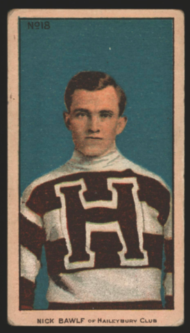 Nick Bawlf Hockey Card 1910 C56 Imperial Tobacco No. 18