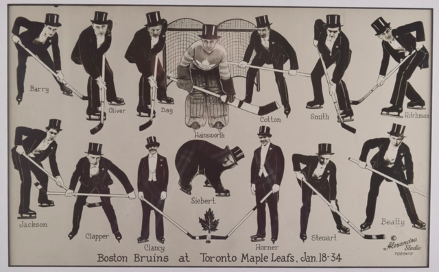 Toronto Maple Leafs and Boston Bruins in Tuxedos 1934