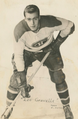 Léo Gravelle 1949 Montreal Canadiens