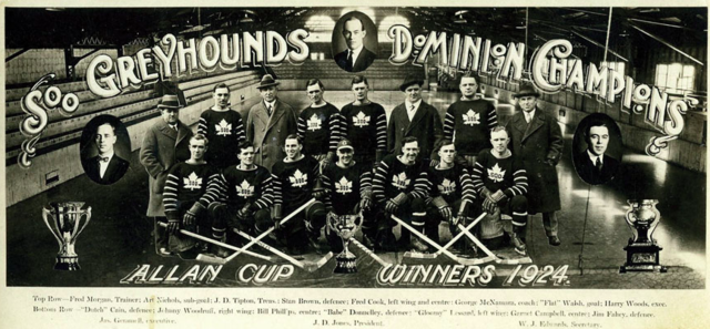 Soo Greyhounds 1924 Allan Cup Champions