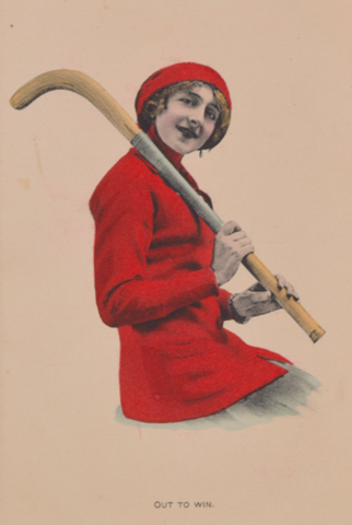 Antique Field Hockey Postcard 1917 Out To Win