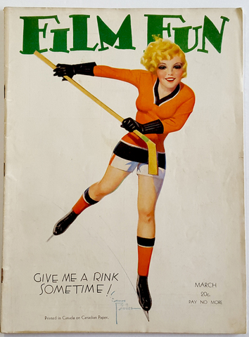Enoch Bolles Hockey Art for Film Fun Magazine 1932