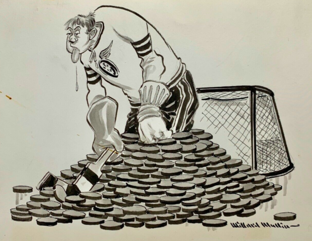 Willard Mullin Hockey Cartoon 1940s