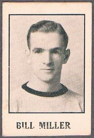 Bill Miller Hockey Card 1933 Moncton Hawks