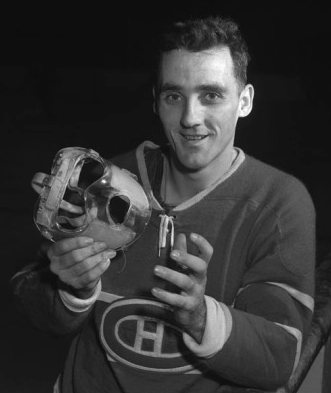 Goalie Mask History - Jacques Plante with the Louch Head-Saver 1957