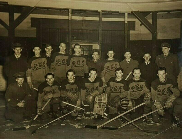 Royal Canadian Engineers Hockey Team 1946 Halifax, Nova Scotia