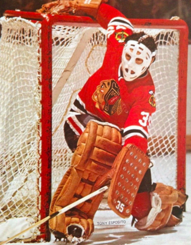 Tony Esposito 1972 Chicago Black Hawks