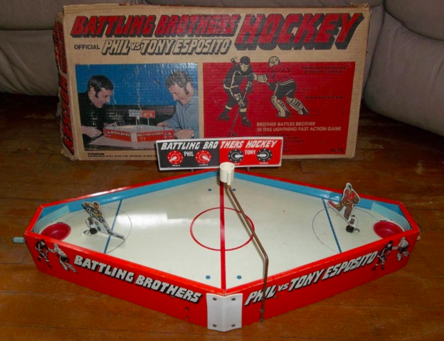 Battling Brothers Table Top Hockey Game - Phil vs Tony Esposito 1970