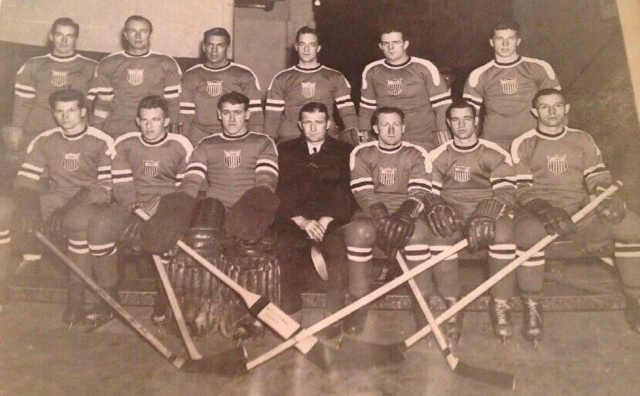 USA Hockey Team 1936 Winter Olympics
