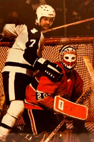 Lanny McDonald and Ken Dryden 1978