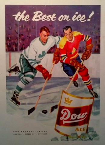 Hockey Beers - Dow Ale Ad 1956