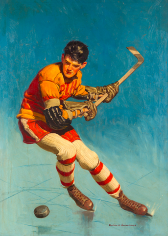 Harold Anderson Hockey Painting 1930s