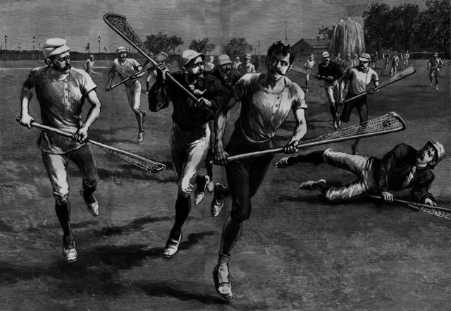 Antique Lacrosse 1886 from Harper's Weekly