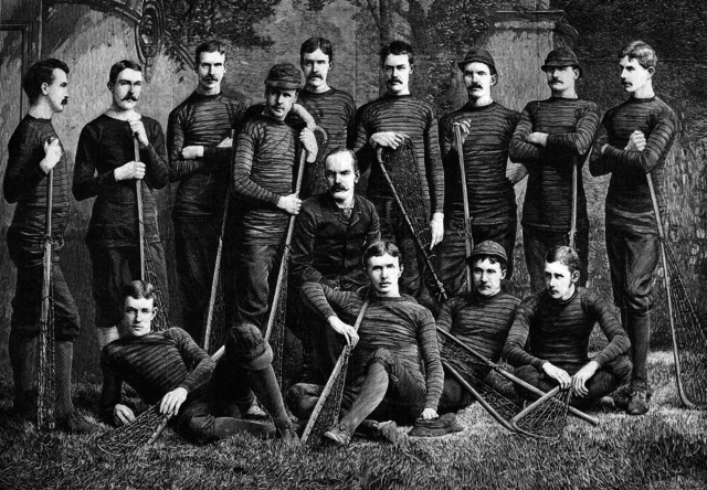 Antique Lacrosse 1884 The American Lacrosse Team