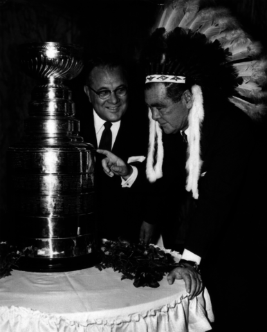 Arthur Wirtz & James D. Norris with the 1961 Stanley Cup