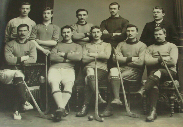 Aberdeen University Shinty Team - circa 1910