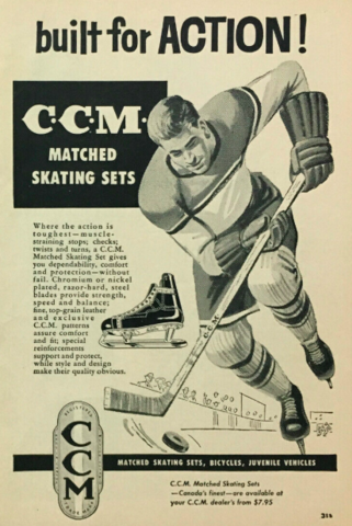 CCM Hockey Ad 1957 CCM Matched Skating Sets