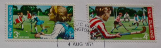 New Zealand Field Hockey Stamps 1971