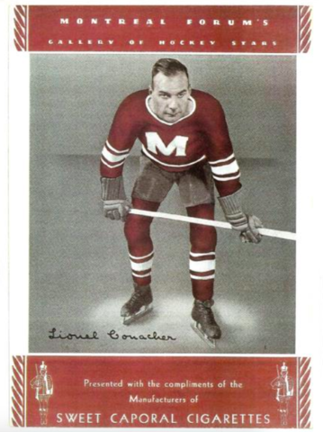 Sweet Caporal Cigarettes Photo Card with Lionel Conacher 1934