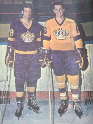 Brian Smith and Ted Irvine 1967 Los Angeles Kings