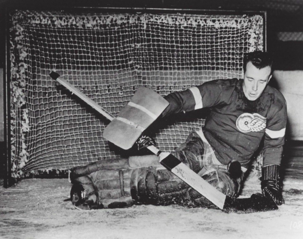 Johnny Mowers 1941 Detroit Red Wings