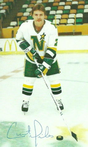 Curt Giles 1982 Minnesota North Stars