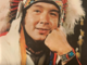 Reggie Leach in Indian Headdress 1975