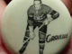 Antique Hockey Pinback Button 1948 Leo Gravelle Montreal Canadiens