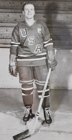 Bill Cleary Jr. 1956 United States Men's National Ice Hockey Team