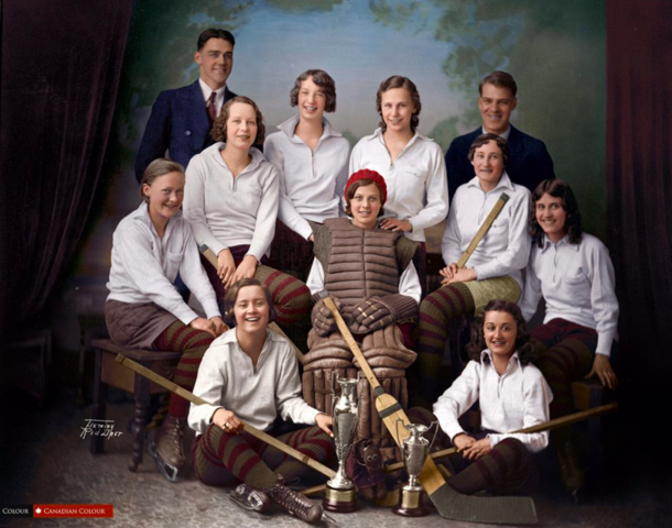 Red Deer Amazons Hockey Club 1933 Coffey Memorial Trophy Champions