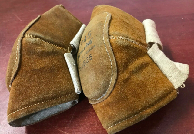 Vintage Spalding Leather Hockey Elbow Pads - Model EP45