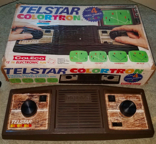 Coleco Telstar Colortron 1978 Hockey Video Game